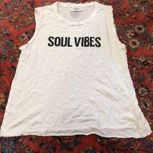 Soulcycle soul vibes tank sz S
